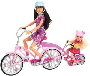 Barbie Sisters Tandem Bike Playset Fashion Dolls