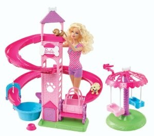 Barbie Slide And Spin Pups Playset Fashion Dolls