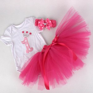 Baby Girl 1st Birthday Outfit Set - First Birthday outfit Gift
