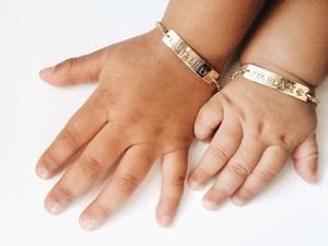 First Birthday Gift boy girl Custom Baby Bracelet