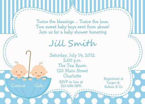 Personalized Baby Shower Cards, New Baby Invitation Cards