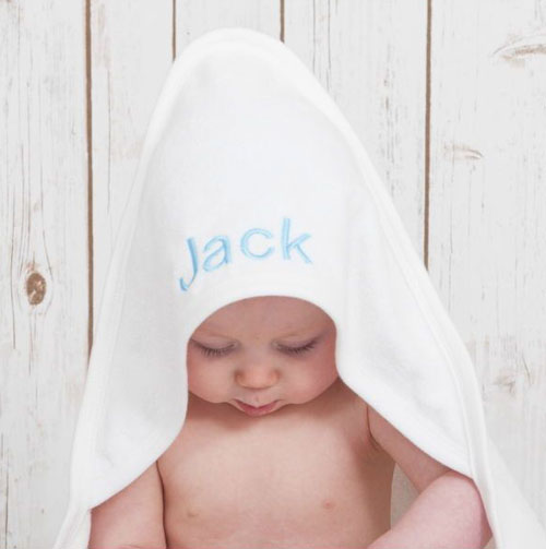 Personalized Baby Towels, Customized Embroidered kids Towels Gift