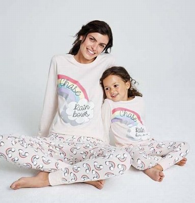 Mother Daughter Unicorn Pajamas, Mommy & Me Rainbow Unicorn Pajamas